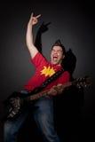 Estrella del rock de griterío Foto de archivo libre de regalías