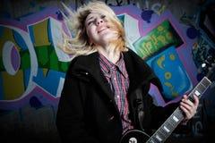 Estrella del rock de la furia Fotografía de archivo