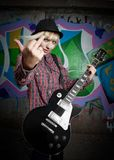 Estrella del rock de la furia Foto de archivo