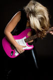 Estrella del rock de la guitarra imagen de archivo