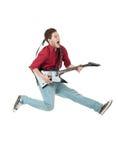 Estrella del rock famosa que grita Foto de archivo libre de regalías
