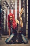 Estrella del rock-and-roll Imagen de archivo