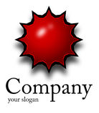 Estrella del rojo de la insignia Fotografía de archivo