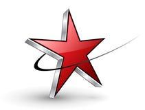 Estrella del rojo de la insignia Foto de archivo libre de regalías