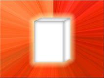 Estrella del rojo del rectángulo blanco Imágenes de archivo libres de regalías