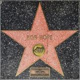 Estrella del ` s de Bob Hope en el paseo de Hollywood de la fama Fotografía de archivo