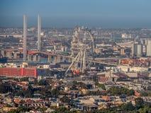 Estrella del ` s de Melbourne con el puente de Bolte Imagenes de archivo