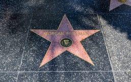 Estrella del ` s de Morgan Freeman, paseo de Hollywood de la fama - 11 de agosto de 2017 - Hollywood Boulevard, Los Ángeles, Cali imágenes de archivo libres de regalías