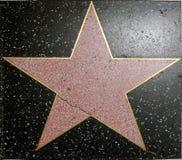 Estrella del salón de la fama Imagen de archivo libre de regalías