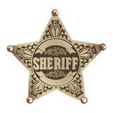 Estrella del sheriff Fotos de archivo libres de regalías
