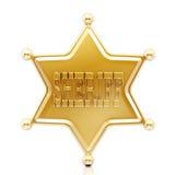 Estrella del sheriff Foto de archivo libre de regalías