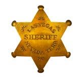 Estrella del sheriff de Las Vegas Imagen de archivo libre de regalías