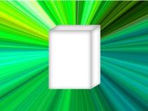Estrella del verde del rectángulo blanco Fotos de archivo