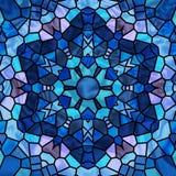Estrella del vidrio manchado Foto de archivo libre de regalías
