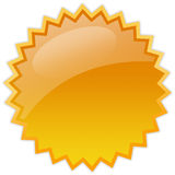 Estrella en blanco del chapoteo Imágenes de archivo libres de regalías