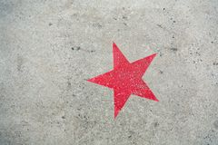 Estrella en el concreto Foto de archivo