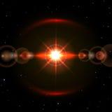 Estrella en espacio Imágenes de archivo libres de regalías