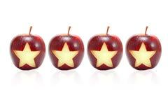 Estrella en manzana Imágenes de archivo libres de regalías