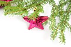 Estrella en un árbol de navidad Imagen de archivo libre de regalías
