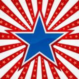 Estrella en un fondo de la explosión Fotos de archivo