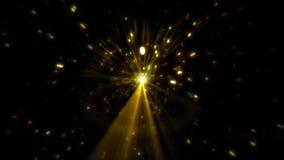 Estrella en un fondo negro con las llamaradas almacen de metraje de vídeo
