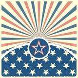 Estrella en un fondo rayado patriótico Imagen de archivo libre de regalías