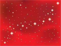 estrella en un fondo rojo del vector Foto de archivo