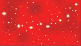 estrella en un fondo rojo del vector Imágenes de archivo libres de regalías