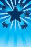 Estrella encima de la tarjeta del efecto Imagen de archivo libre de regalías