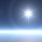 Estrella extremadamente brillante con los anillos del hielo Imagenes de archivo