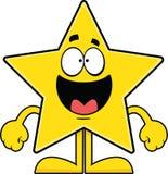 Estrella feliz de la historieta Foto de archivo