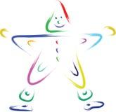 Estrella feliz del color Foto de archivo