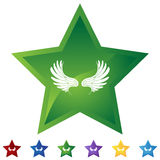 Estrella fijada - alas Foto de archivo