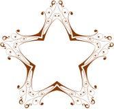 Estrella floral de la vendimia Imagenes de archivo