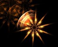 Estrella floral que brilla intensamente Fotos de archivo