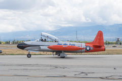 Estrella fugaz ct-133 de Canadair en la exhibición Imagen de archivo