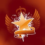 Estrella heráldica Fotografía de archivo libre de regalías