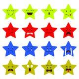 Estrella linda Emoji en el fondo blanco Foto de archivo