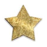 Estrella metálica del grunge del oro ilustración del vector