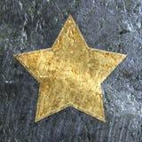 Estrella metálica del grunge del oro libre illustration