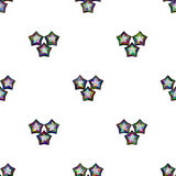 Estrella multicolora en modelo inconsútil del fondo blanco Imagen de archivo