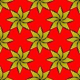 Estrella ornamental geométrica, símbolo del sol stock de ilustración