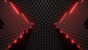 Estrella oscura del modelo de VJ 3D almacen de metraje de vídeo