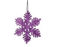 Estrella púrpura de la Navidad Foto de archivo libre de regalías