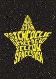 Estrella psicodélica Foto de archivo libre de regalías