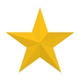Estrella que muestra imagen del icono de la autoridad militar ilustración del vector