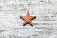 Estrella rústica de la Navidad fotos de archivo