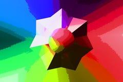 Estrella retra del color Foto de archivo libre de regalías