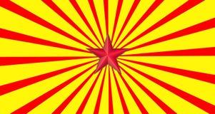 Estrella roja Foto de archivo libre de regalías