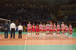 Estrella roja Belgrado Serbia de las personas del voleibol Imagen de archivo